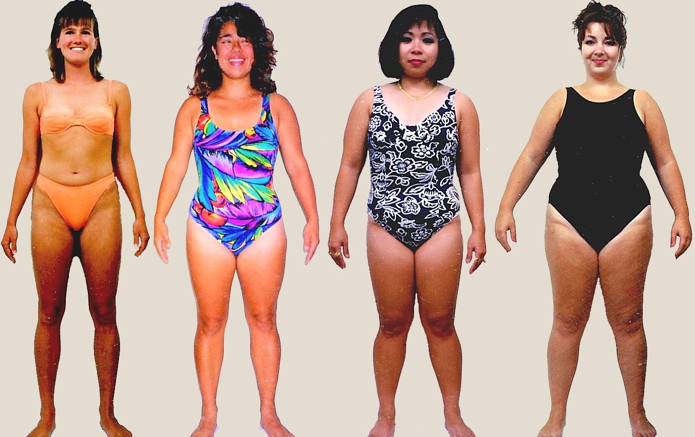 Pictures of female Skin body type
